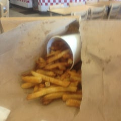 Photo taken at Five Guys by SunDeja on 2/17/2013