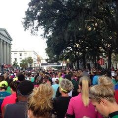 Photo taken at Rock n Roll Savannah Marathon Start by Kathlene H. on 11/9/2013