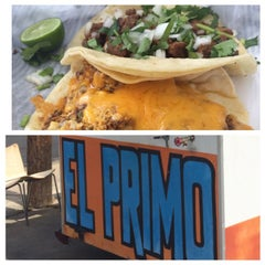 Photo taken at El Primo Taco Truck by Paul S. on 4/12/2014