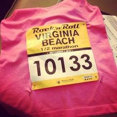 Photo taken at Rock 'n' Roll Virginia Beach Half Marathon Expo by Heather B. on 9/1/2013