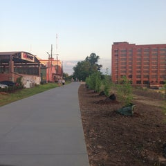 Photo taken at Atlanta BeltLine Corridor over Ponce de Leon by Cindy C. on 5/9/2013