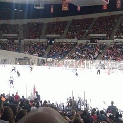 Photo taken at Veterans Memorial Coliseum by Morgan S. on 2/16/2013