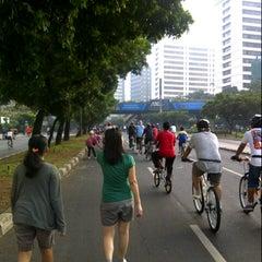 Photo taken at Jalan Jenderal Sudirman by Eric N. on 10/13/2012