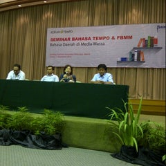 Photo taken at Gedung Yustinus Unika Atma Jaya by Djony H. on 11/11/2014