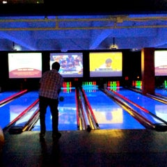 Photo taken at Bowlmor Lanes Union Square by Andrew H. on 1/24/2013