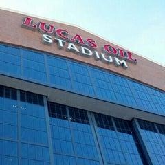 Photo taken at Lucas Oil Stadium by Jenn K. on 12/30/2012