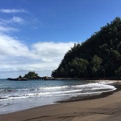 Photo taken at Hana Beach Park by Christine C. on 11/26/2014