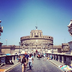 Photo taken at Ponte Sant'Angelo by Marco C. on 7/17/2013