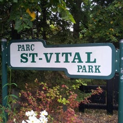 Photo taken at St. Vital Park by Ben R. on 9/9/2013