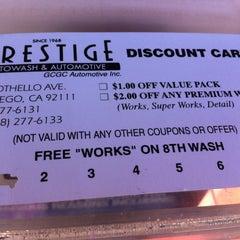 Photo taken at Prestige Auto Wash & Automotive by Conrad & Jenn R. on 8/31/2014