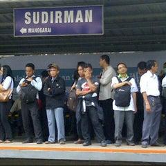 Photo taken at Stasiun Sudirman by Ichlas R. on 2/11/2013