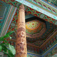 Photo taken at Dushanbe Teahouse by Amy G. on 9/22/2012
