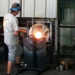 Photo taken at Morean Glass Studio & Hot Shop by Sandra D. on 4/12/2014