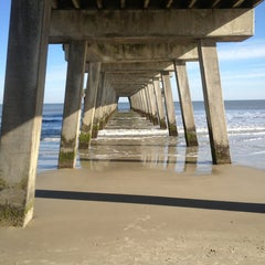 Photo taken at Atlantic ocean Tybee Island by Paige P. on 1/21/2013