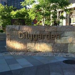 Photo taken at Citygarden by Lacy D. on 6/11/2013