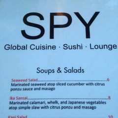 Photo taken at Spy Global Cuisine and Lounge by Elle B. on 10/28/2014