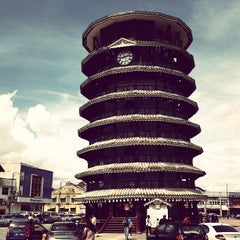 Photo taken at Menara Condong (Leaning Tower) by Faizal R. on 11/13/2012