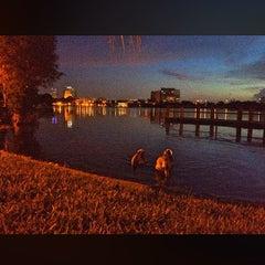 Photo taken at Gaston Edwards Park by Jamey C. on 8/13/2014