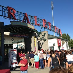 Photo taken at Raley Field by Karen N. on 6/23/2013