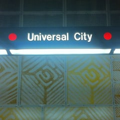 Photo taken at Universal City Metro Station by Theron X. on 3/11/2013