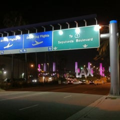 Photo taken at LAX Sign by Theron X. on 5/16/2013