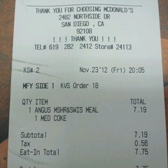 Photo taken at McDonald's by Ronald's M. on 11/24/2012