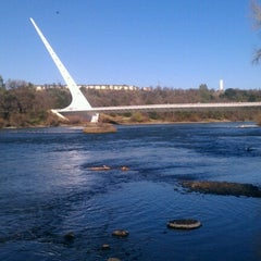 Photo taken at Sundial Bridge at Turtle Bay Exploration Park by Tad D. on 2/15/2013