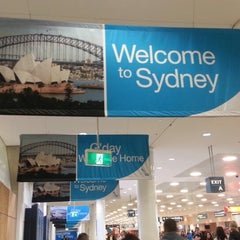 Photo taken at T1 International Terminal (SYD) by Nancy W. on 4/16/2013