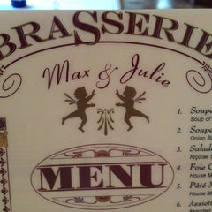 Photo taken at Brasserie Max and Julie by Terry C. on 5/24/2013