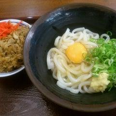 Photo taken at つるまるうどん ピオレごちそう館店 by Tatsuya D. on 9/14/2012