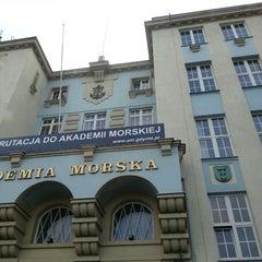 Photo taken at Akademia Morska w Gdyni by Asia K. on 9/11/2014