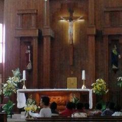 Photo taken at Gereja St Robertus Bellarminus Cililitan by Reza F. on 5/26/2013