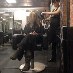 Photo taken at Swerve Salon by Taylor F. on 1/31/2014
