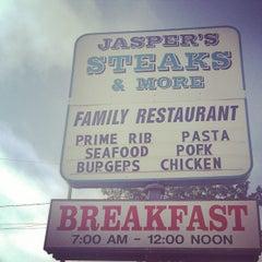 Photo taken at Jasper's Steak N More Family Restaurant by Kendra A. on 9/1/2014