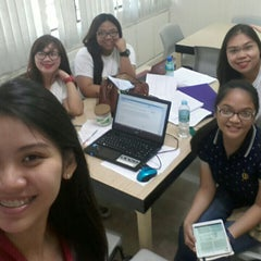 Photo taken at Angeles University Foundation Library by Patricia Ann D. on 8/15/2015