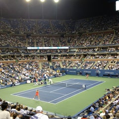 Foto tomada en Arthur Ashe Stadium - USTA Billie Jean King National Tennis Center  por Eric T. el 9/5/2013