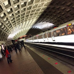 Photo taken at WMATA Red Line Metro by Mark C. on 1/24/2015