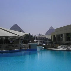 Photo taken at Le Méridien Pyramids Hotel & Spa by Bill R. on 4/14/2013