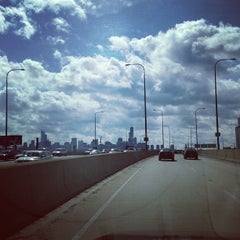Photo taken at Kennedy Expressway by Paris L. on 4/8/2013