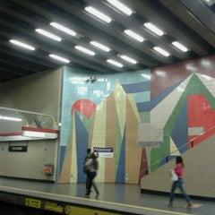 Photo taken at Metro Los Leones by Daniela S. on 6/5/2013