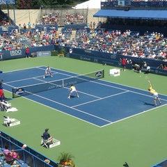 Photo taken at William H.G. Fitzgerald Tennis Stadium by Derek D. on 8/4/2013