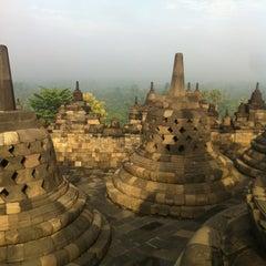 Photo taken at Candi Borobudur (Borobudur Temple) by Amanda M. on 4/1/2013