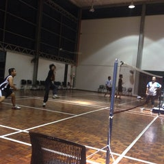 Photo taken at Cyber City Apartment 2 Gymnasium, Badminton Court and Pool by Ferrie M. on 2/25/2014