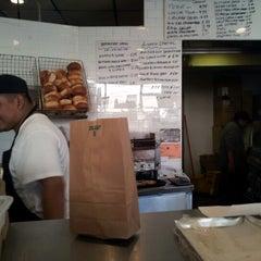 Photo taken at Bony's Bagels by Aleksandr Z. on 11/2/2012