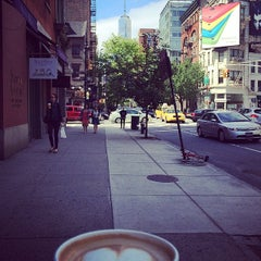 Photo taken at Broome Street & W Broadway by Jessica V. on 5/24/2014