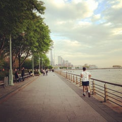 Photo taken at Hudson River Park by Maria T. on 5/10/2013