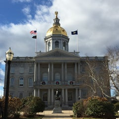 Photo taken at New Hampshire State House by Erin K. on 12/29/2014