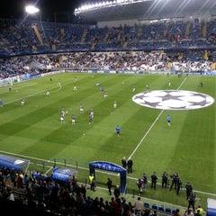 Photo taken at Estadio La Rosaleda by Enrique 3. on 10/24/2012