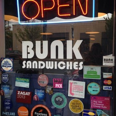 Photo taken at Bunk Sandwiches by Erin P. on 10/2/2015
