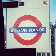 Photo taken at Boston Manor London Underground Station by Marina L. on 5/1/2013